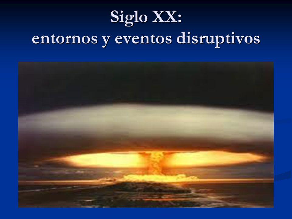 Siglo XX: entornos y eventos disruptivos