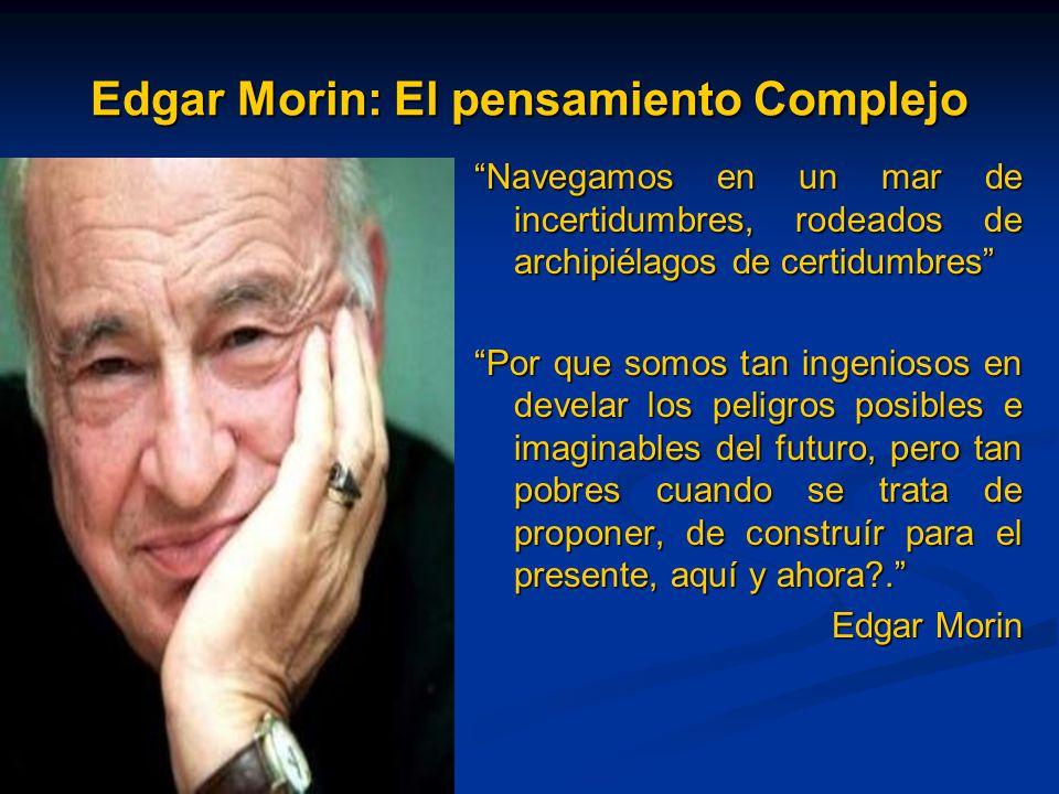 Edgar Morin: El pensamiento Complejo