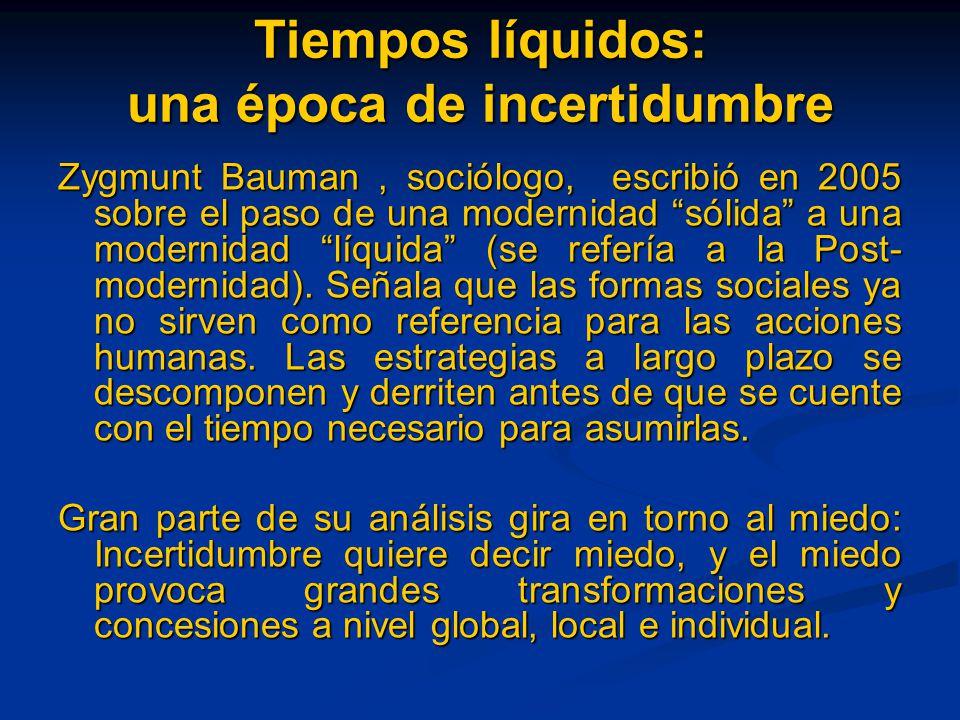 Tiempos líquidos: una época de incertidumbre