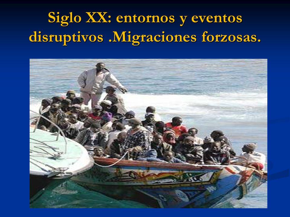 Siglo XX: entornos y eventos disruptivos .Migraciones forzosas.