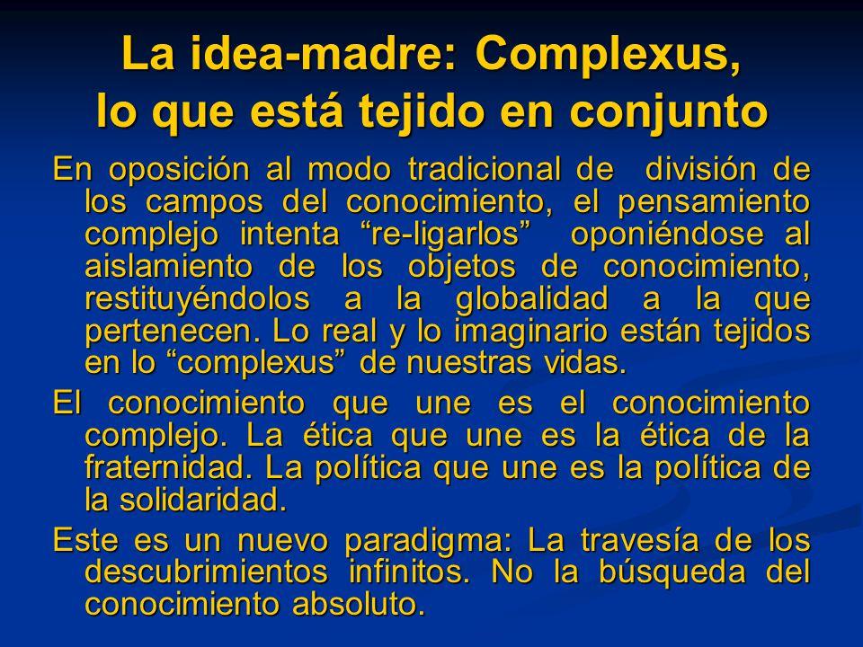 La idea-madre: Complexus, lo que está tejido en conjunto