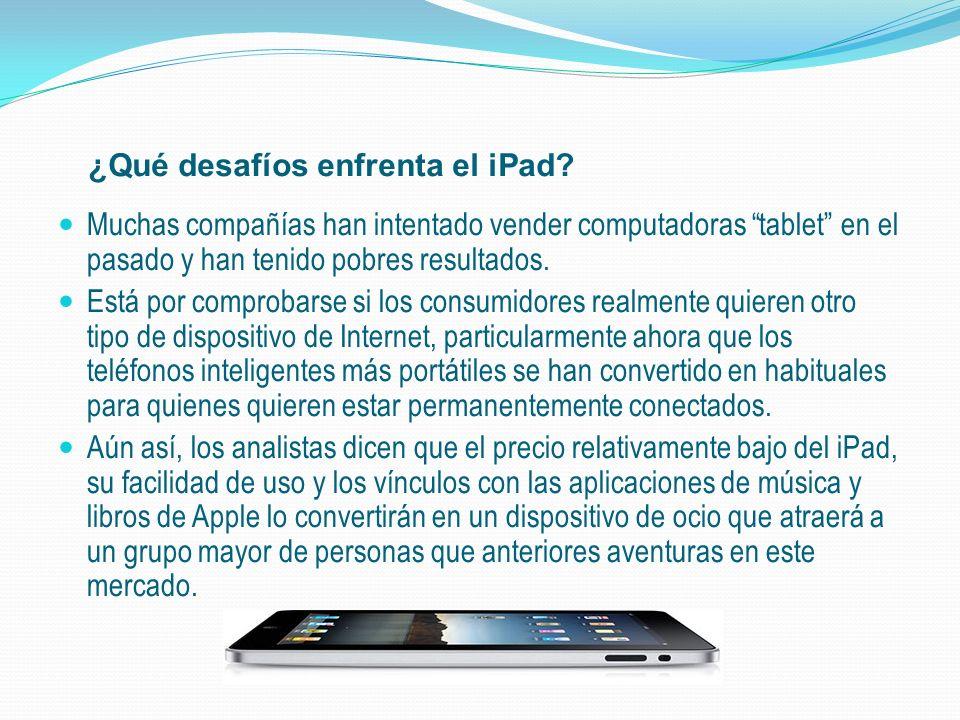 ¿Qué desafíos enfrenta el iPad