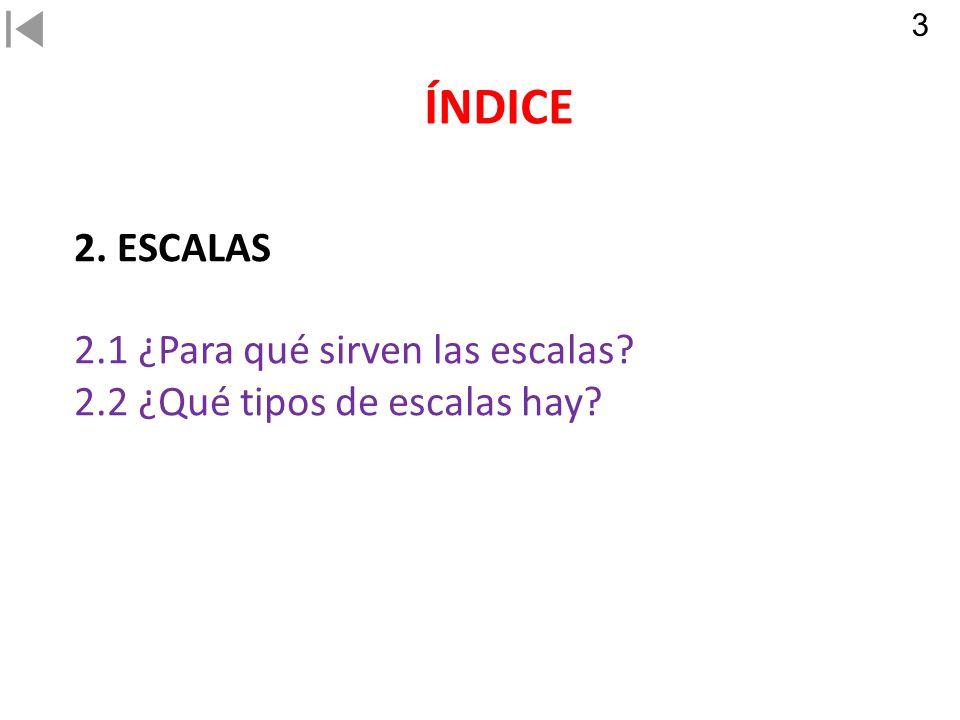 ÍNDICE 2. ESCALAS 2.1 ¿Para qué sirven las escalas