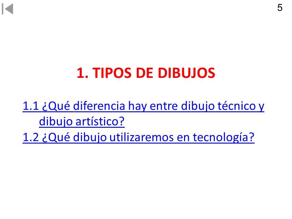 5 1. TIPOS DE DIBUJOS. 1.1 ¿Qué diferencia hay entre dibujo técnico y dibujo artístico.