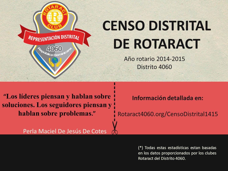 Censo distrital de rotaract Información detallada en: