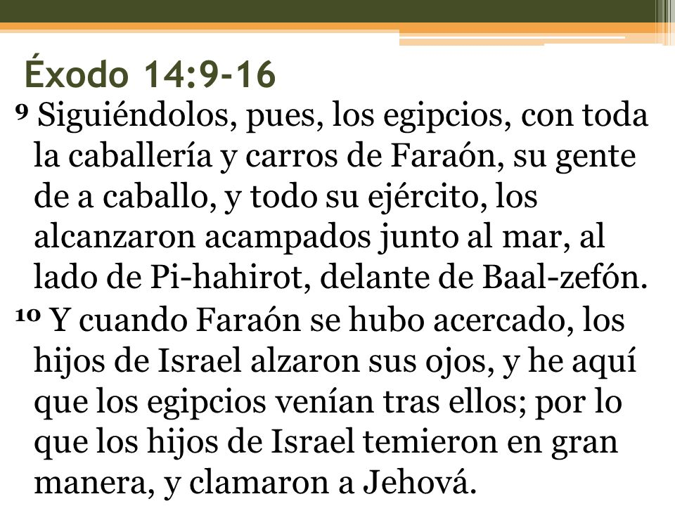 Éxodo 14:9-16