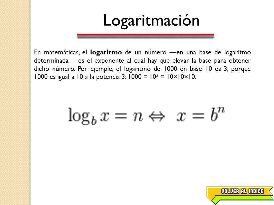 Logaritmación