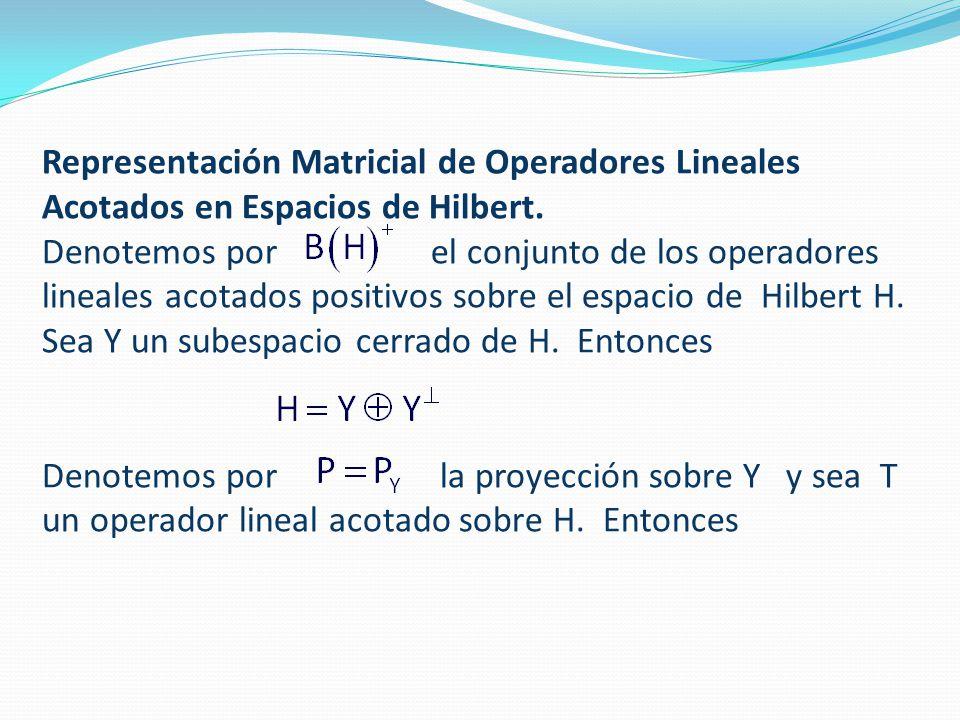 Representación Matricial de Operadores Lineales Acotados en Espacios de Hilbert.