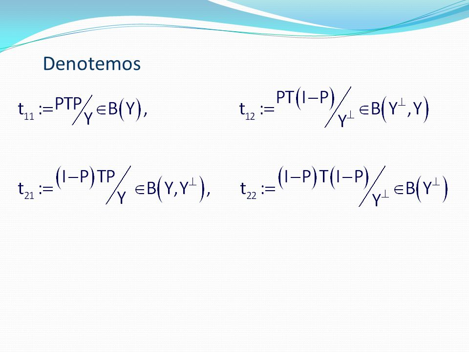 Denotemos