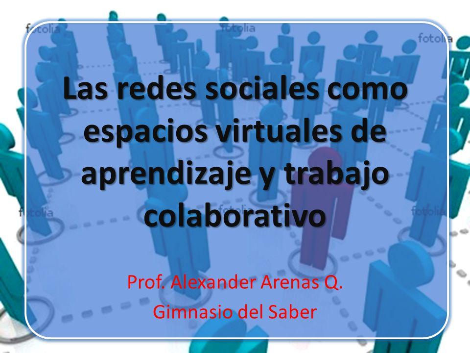 Prof. Alexander Arenas Q. Gimnasio del Saber