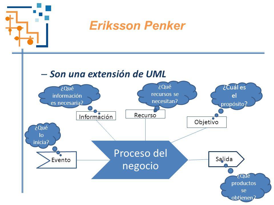 Eriksson Penker Proceso del negocio Son una extensión de UML
