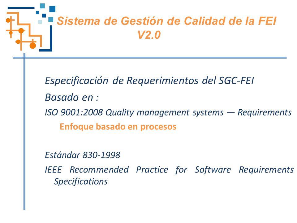 Sistema de Gestión de Calidad de la FEI V2.0