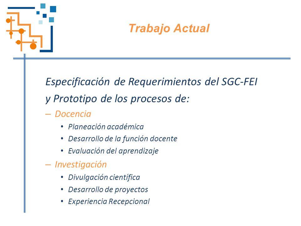 Especificación de Requerimientos del SGC-FEI
