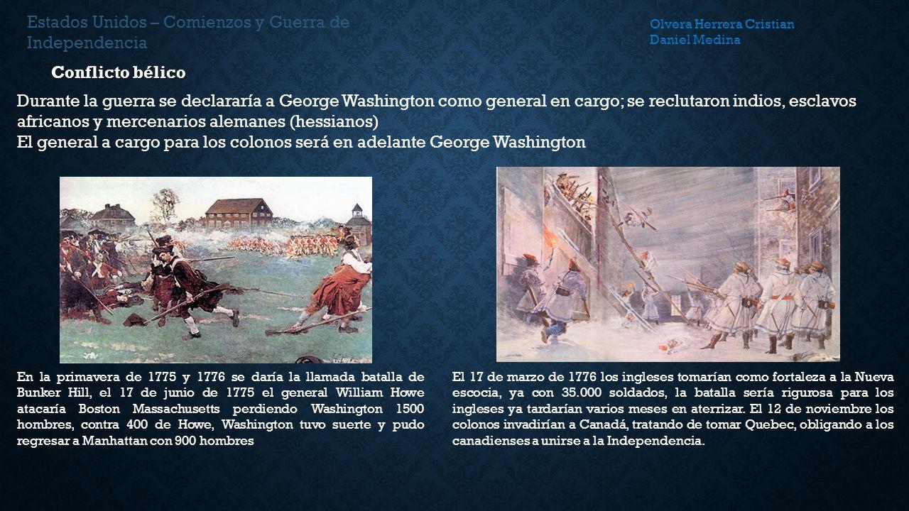 Estados Unidos – Comienzos y Guerra de Independencia