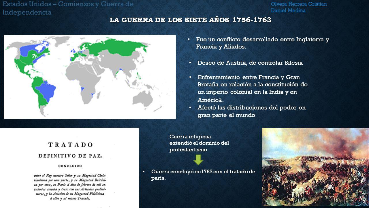 La guerra de los siete años 1756-1763