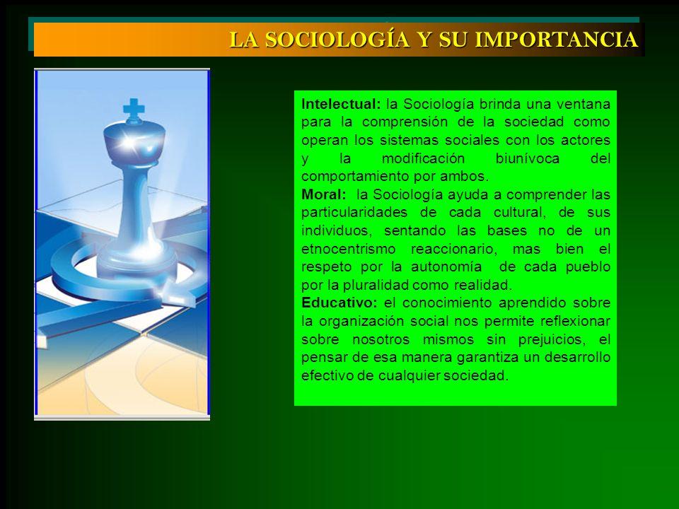 LA SOCIOLOGÍA Y SU IMPORTANCIA