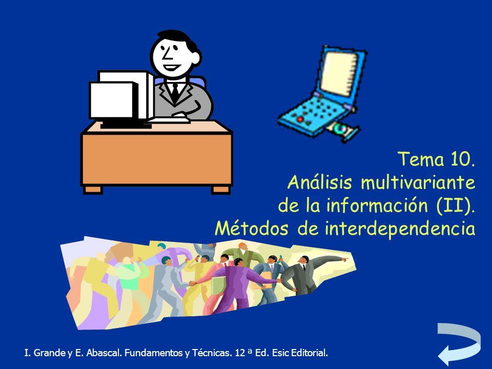 Tema 10. Análisis multivariante de la información (II)