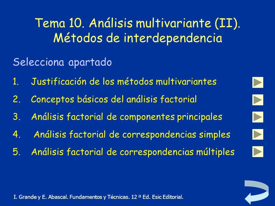 Tema 10. Análisis multivariante (II). Métodos de interdependencia