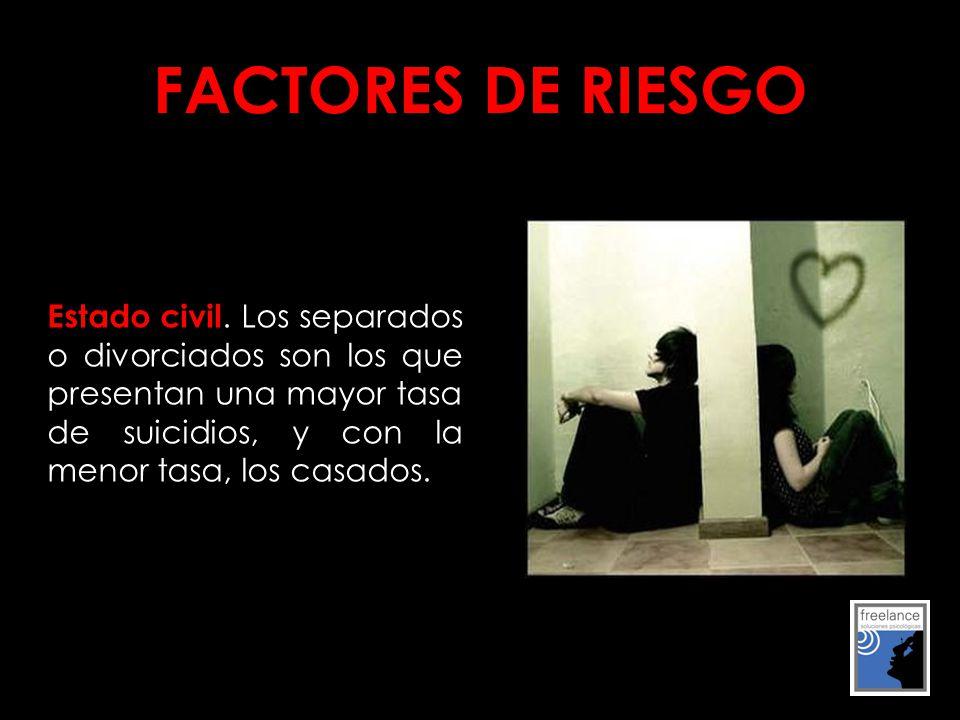 FACTORES DE RIESGO Estado civil.