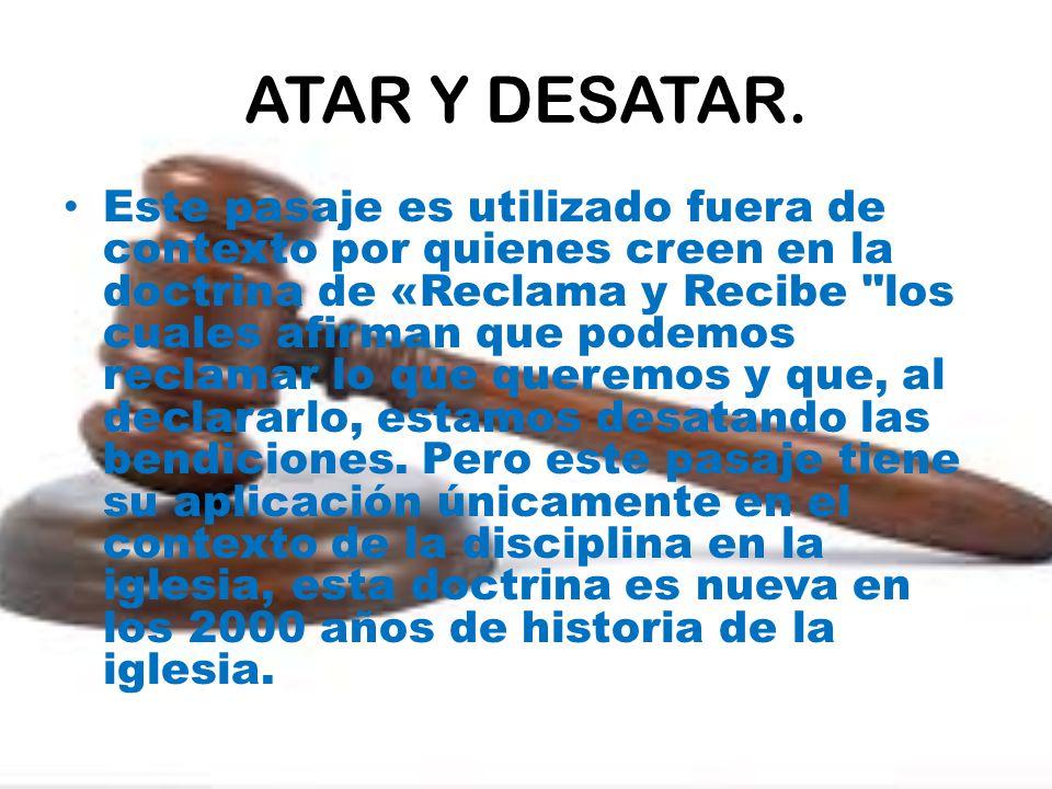 ATAR Y DESATAR.
