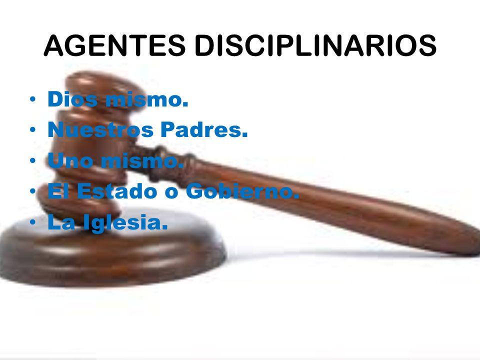 AGENTES DISCIPLINARIOS