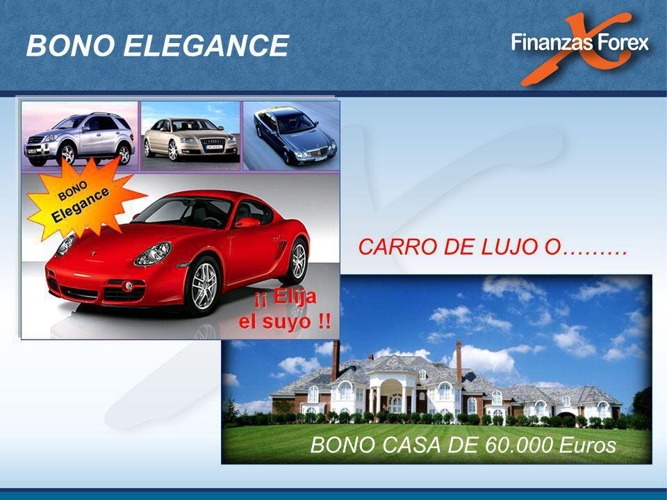 BONO ELEGANCE CARRO DE LUJO O……… BONO CASA DE 60.000 Euros