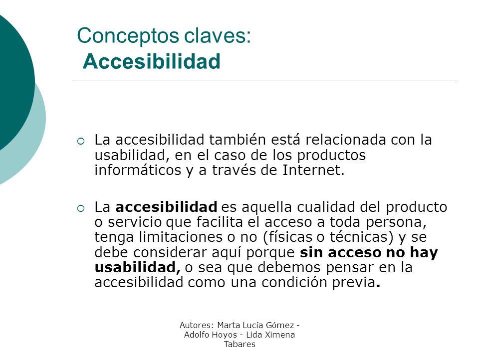 Conceptos claves: Accesibilidad