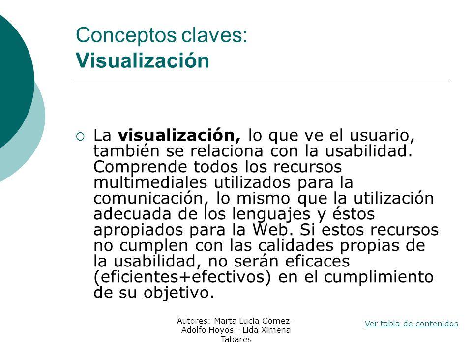 Conceptos claves: Visualización