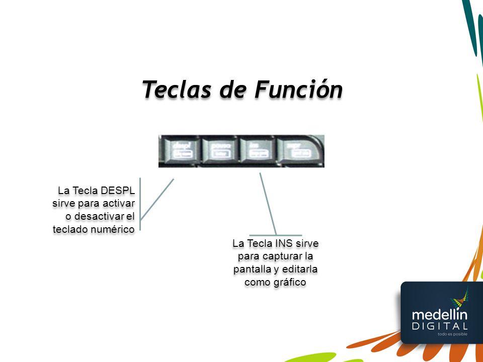 La Tecla INS sirve para capturar la pantalla y editarla como gráfico