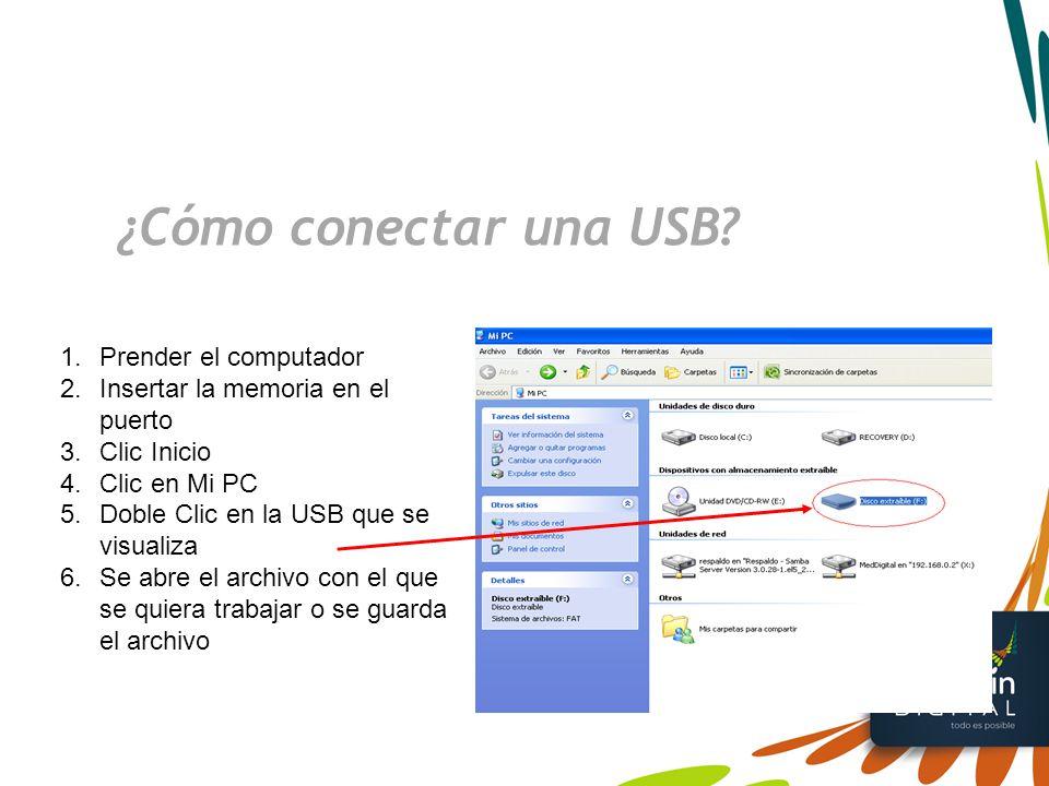 ¿Cómo conectar una USB Prender el computador