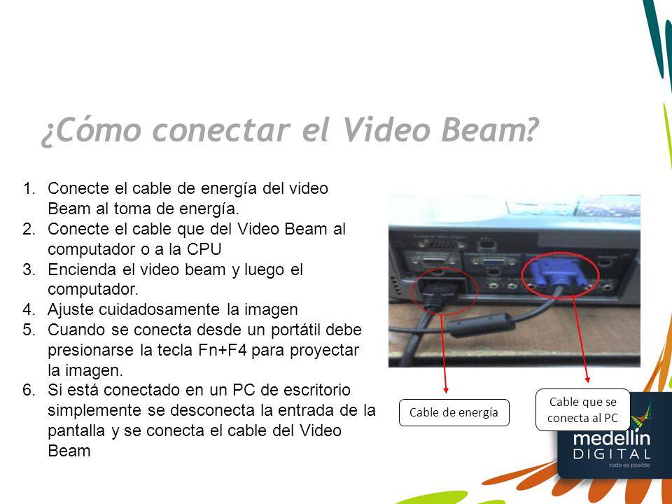 ¿Cómo conectar el Video Beam