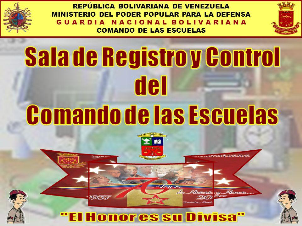 Sala de Registro y Control Comando de las Escuelas