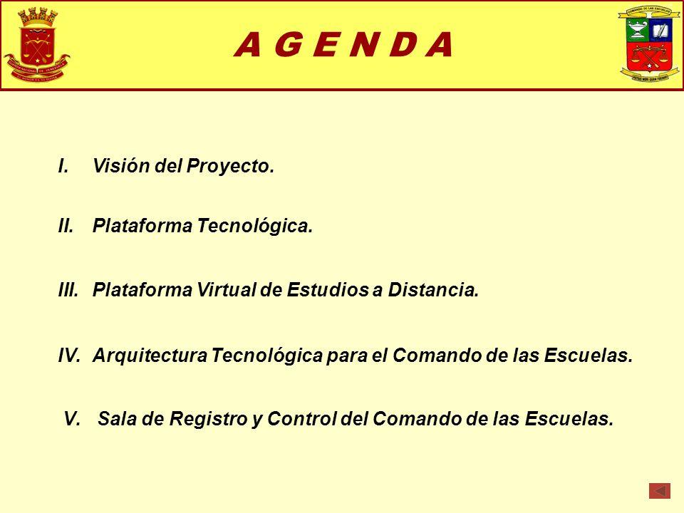 A G E N D A Visión del Proyecto. Plataforma Tecnológica.