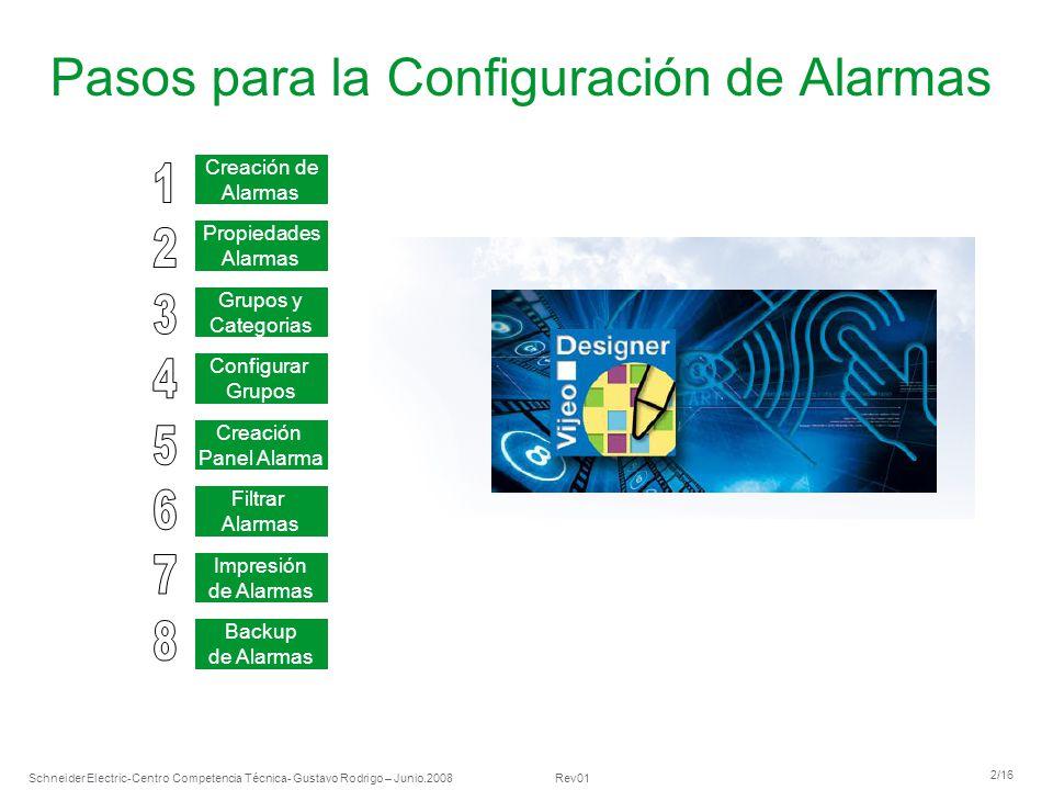 Pasos para la Configuración de Alarmas