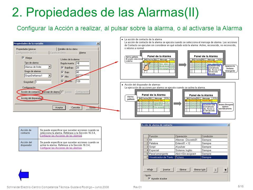 2. Propiedades de las Alarmas(II)