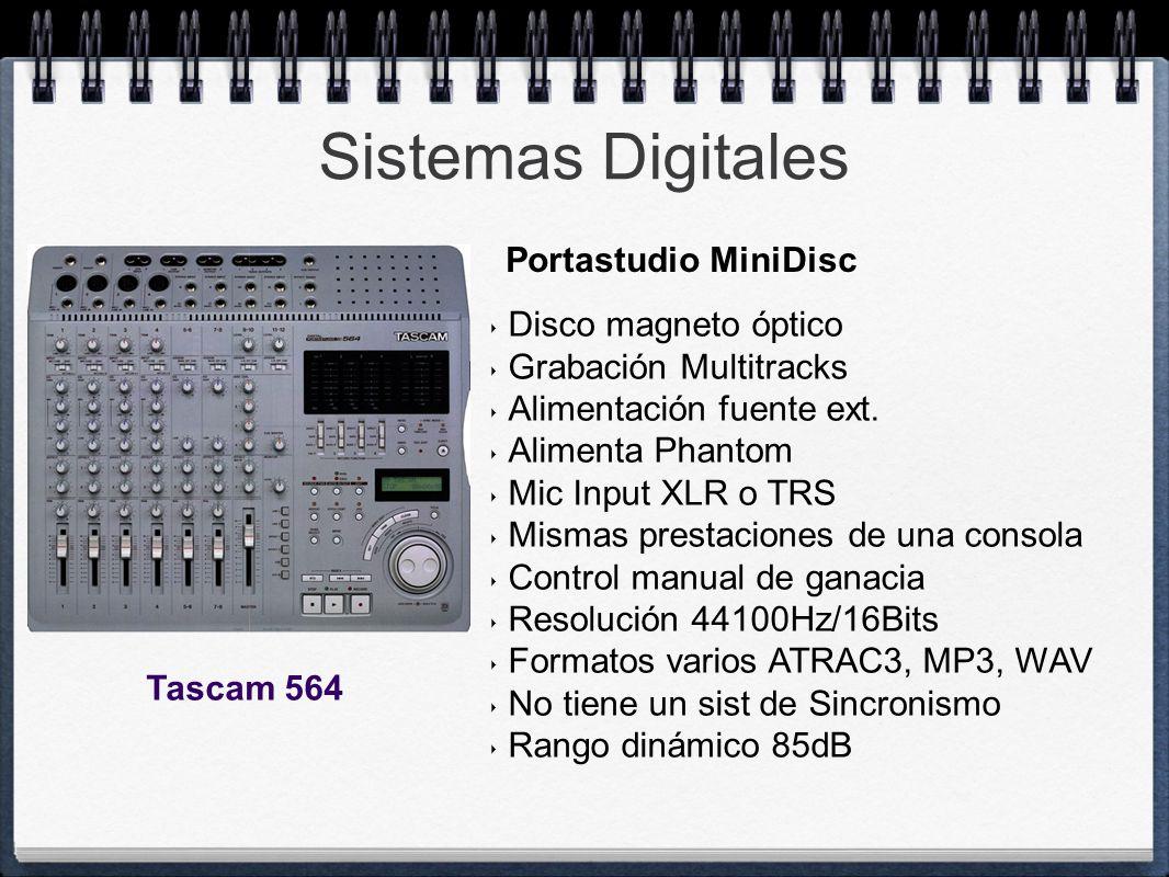 Sistemas Digitales Portastudio MiniDisc Disco magneto óptico