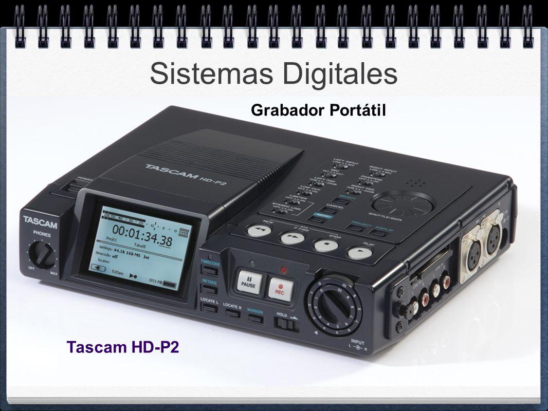 Sistemas Digitales Grabador Portátil Tascam HD-P2