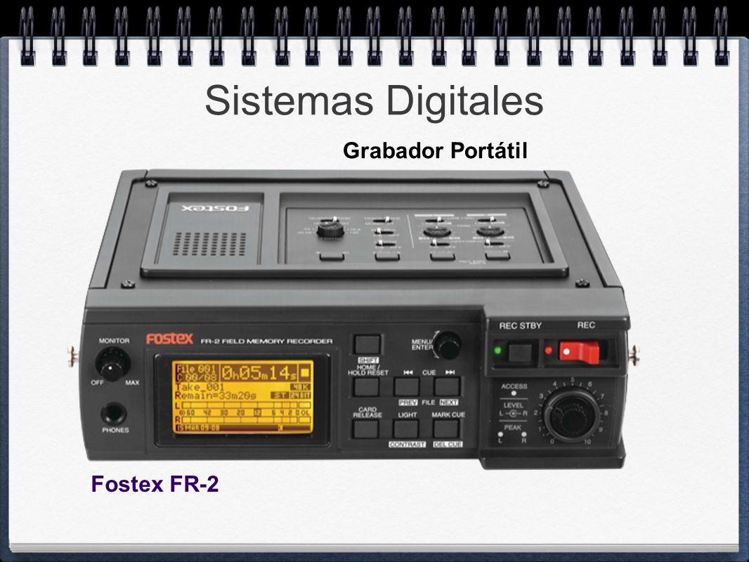 Sistemas Digitales Grabador Portátil Fostex FR-2