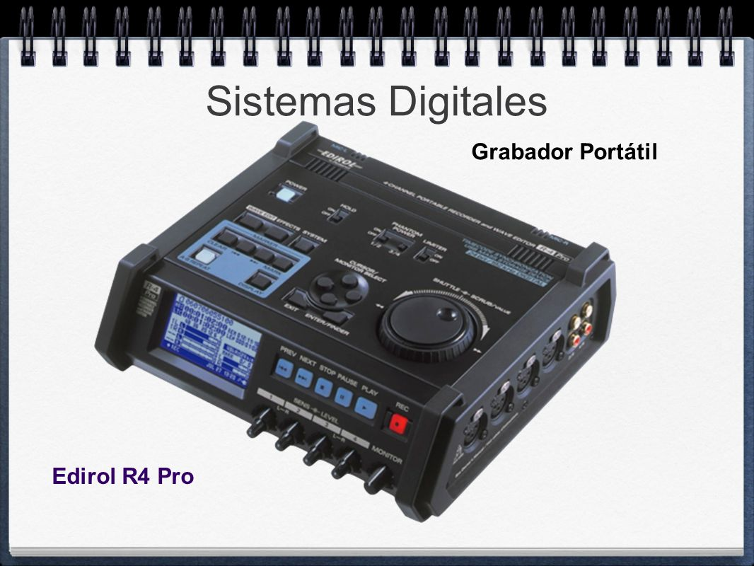 Sistemas Digitales Grabador Portátil Edirol R4 Pro