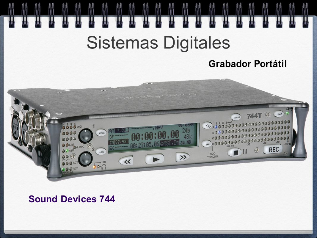 Sistemas Digitales Grabador Portátil Sound Devices 744