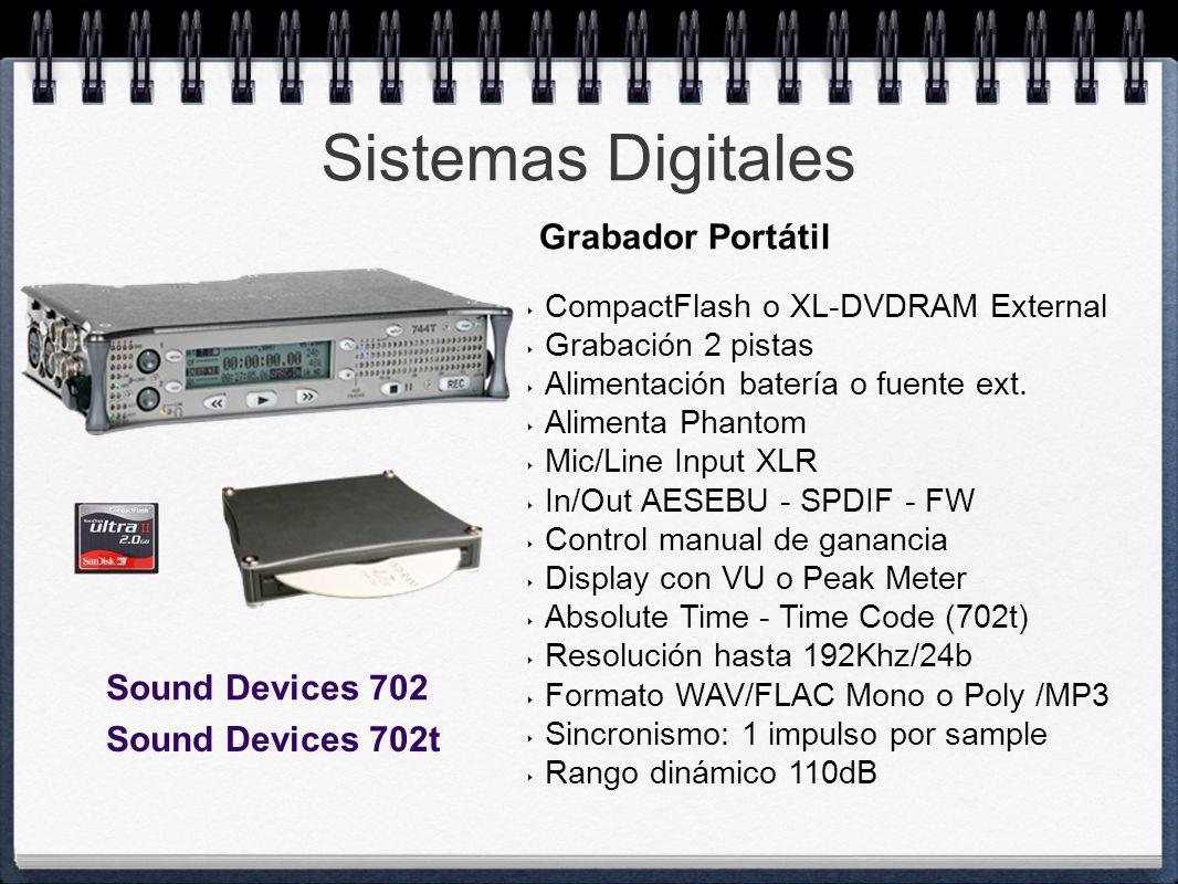 Sistemas Digitales Grabador Portátil Sound Devices 702