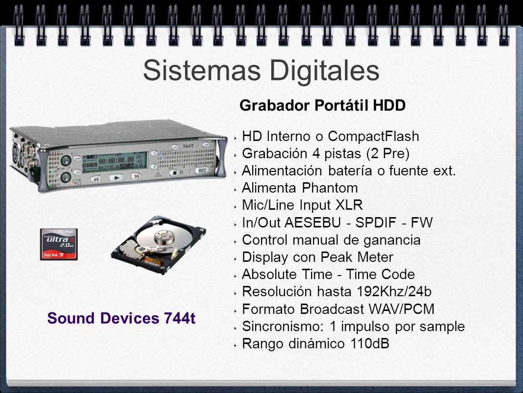 Sistemas Digitales Grabador Portátil HDD Sound Devices 744t