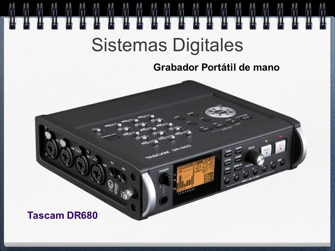 Sistemas Digitales Grabador Portátil de mano Tascam DR680