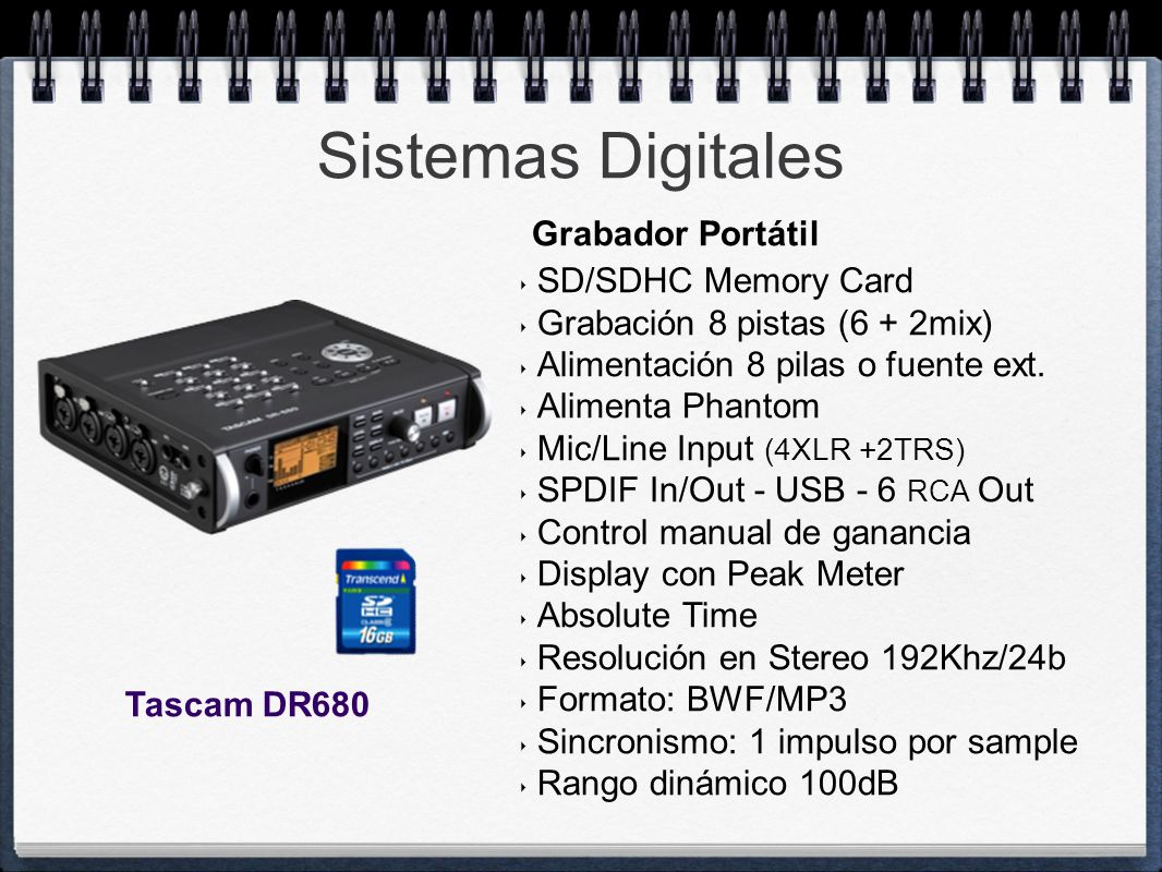 Sistemas Digitales Grabador Portátil SD/SDHC Memory Card