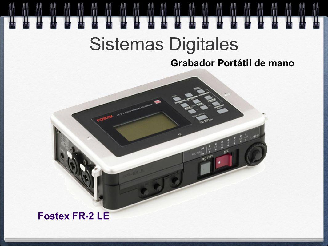 Sistemas Digitales Grabador Portátil de mano Fostex FR-2 LE