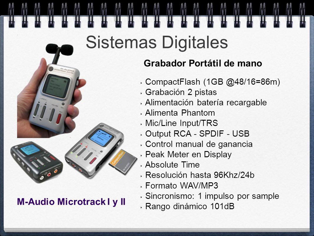 Sistemas Digitales Grabador Portátil de mano M-Audio Microtrack I y II