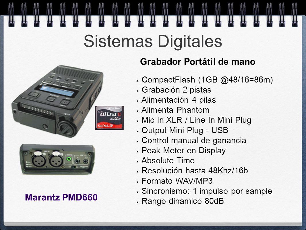 Sistemas Digitales Grabador Portátil de mano Marantz PMD660