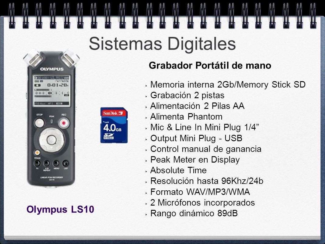 Sistemas Digitales Grabador Portátil de mano Olympus LS10