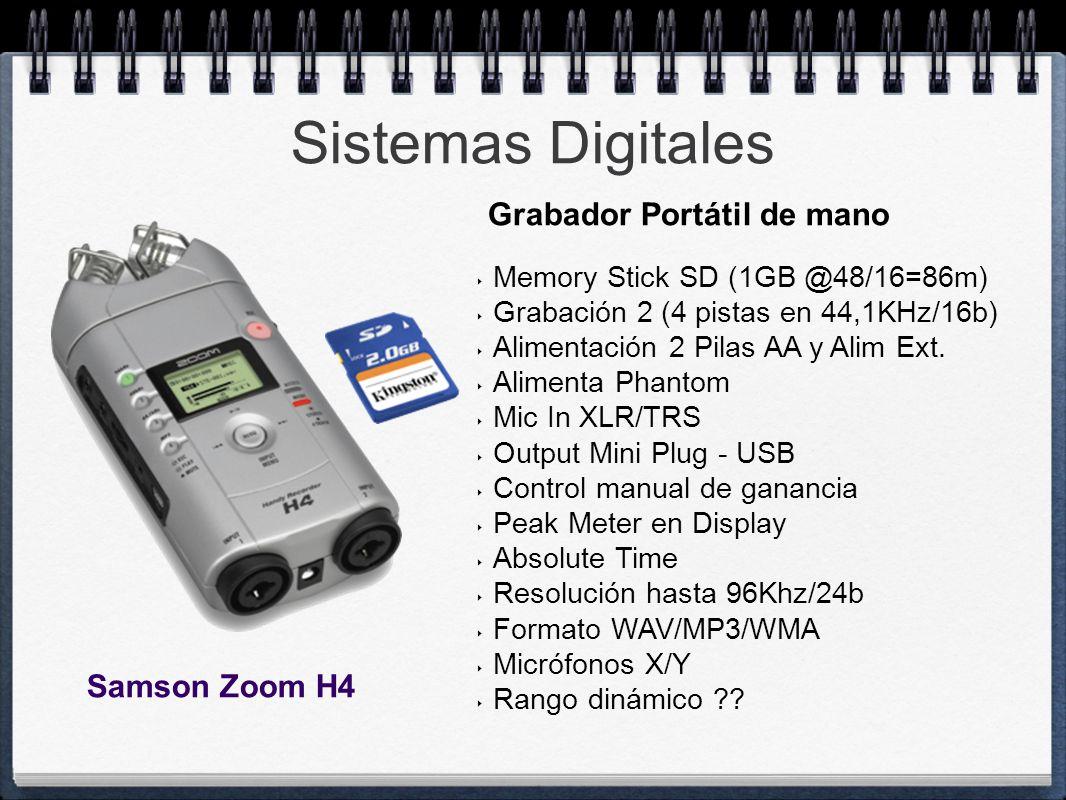Sistemas Digitales Grabador Portátil de mano Samson Zoom H4