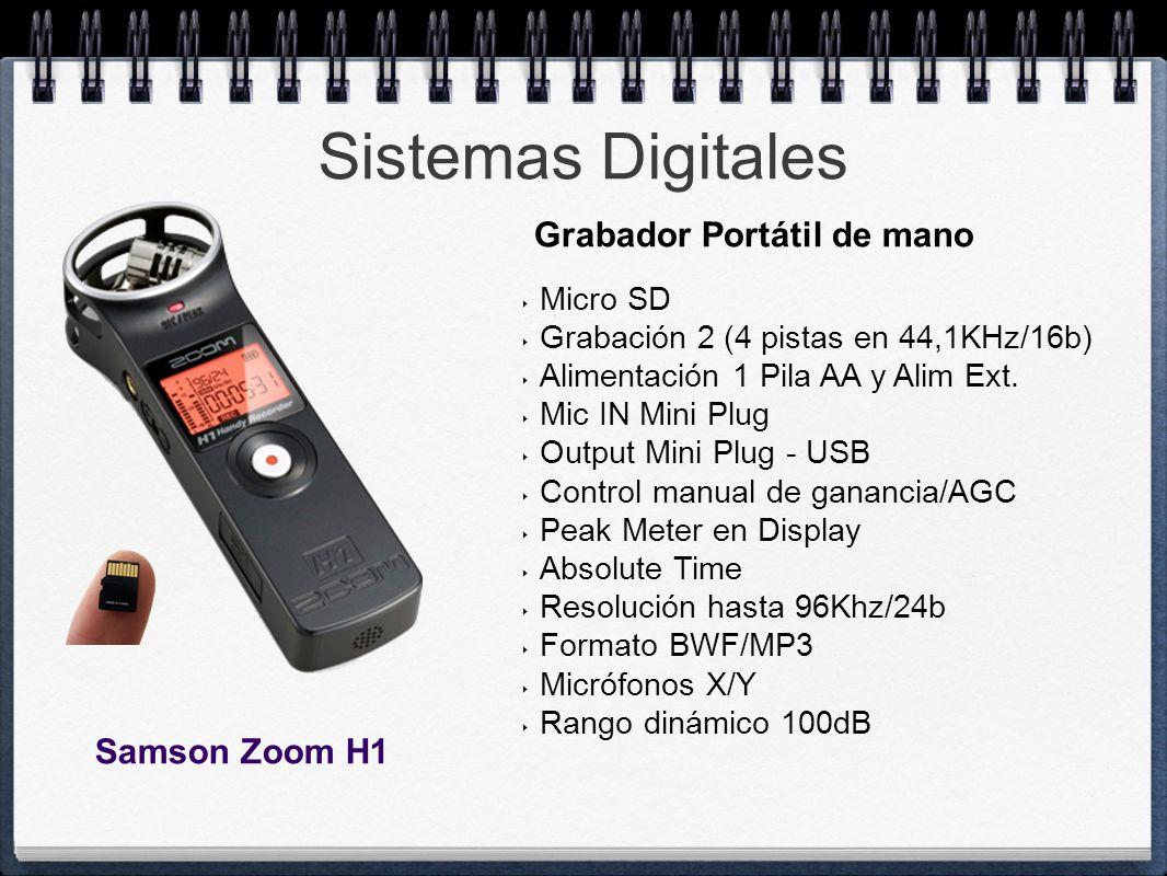 Sistemas Digitales Grabador Portátil de mano Samson Zoom H1 Micro SD